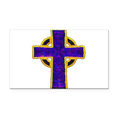cross29c.png Rectangle Car Magnet