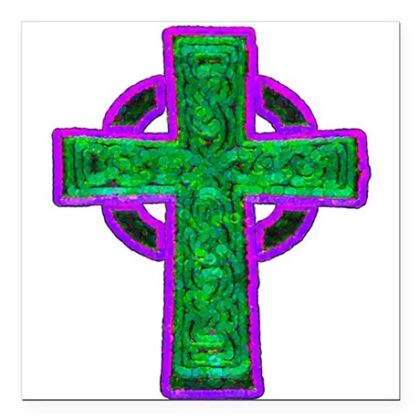 cross29d.png Square Car Magnet 3&quot; x 3&quot;