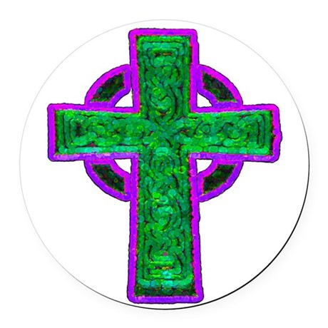 cross29d.png Round Car Magnet