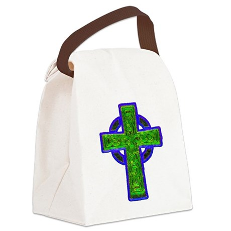 cross29e.png Canvas Lunch Bag
