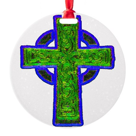cross29e.png Round Ornament