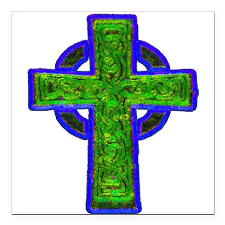 "cross29e.png Square Car Magnet 3"" x 3"""