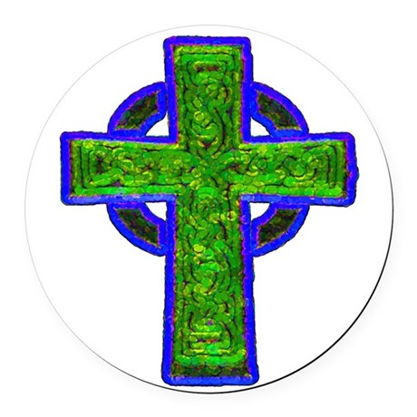 cross29e.png Round Car Magnet