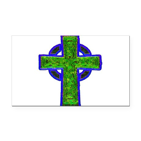 cross29e.png Rectangle Car Magnet