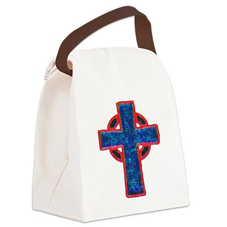cross29f.png Canvas Lunch Bag