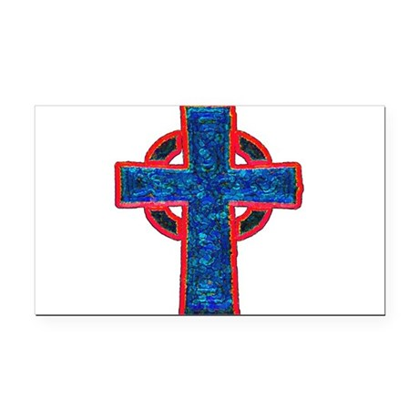 cross29f.png Rectangle Car Magnet