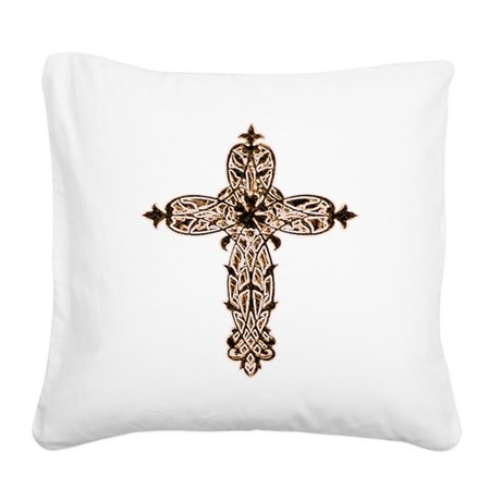 cross30b2.png Square Canvas Pillow