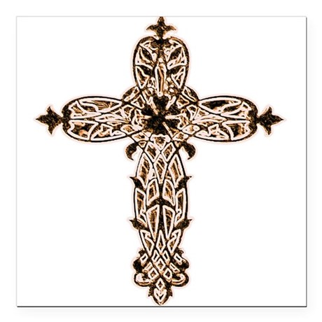 "cross30b2.png Square Car Magnet 3"" x 3"""