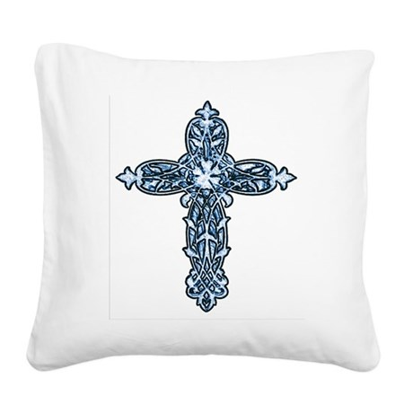cross30b.png Square Canvas Pillow
