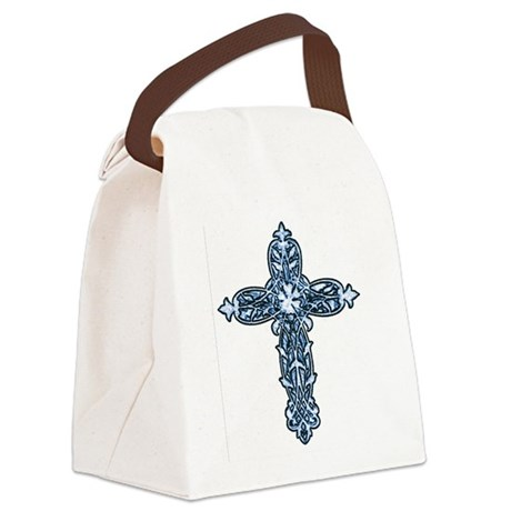 cross30b.png Canvas Lunch Bag