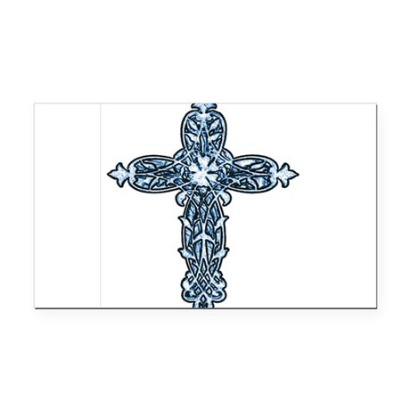 cross30b.png Rectangle Car Magnet