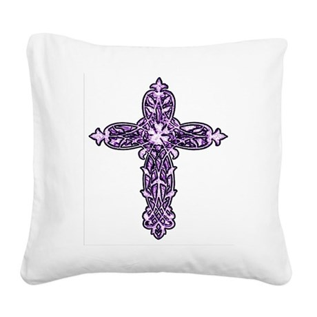 cross30c.png Square Canvas Pillow