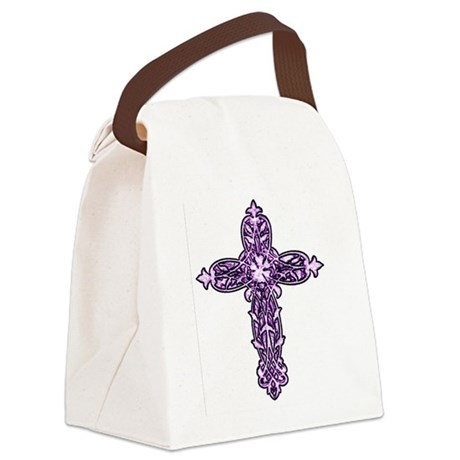 cross30c.png Canvas Lunch Bag