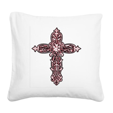 cross30d.png Square Canvas Pillow