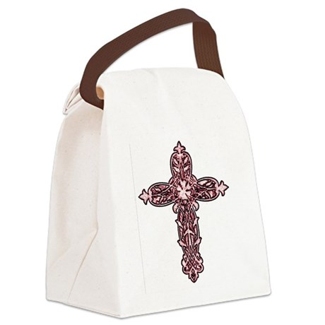 cross30d.png Canvas Lunch Bag