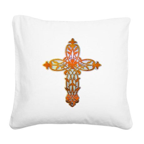 cross31b2.png Square Canvas Pillow