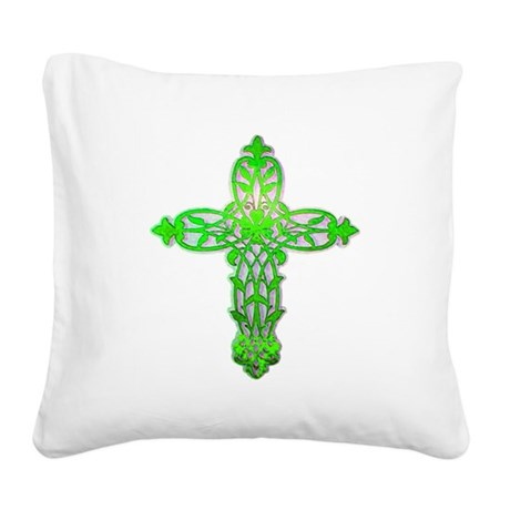 cross31c2.png Square Canvas Pillow
