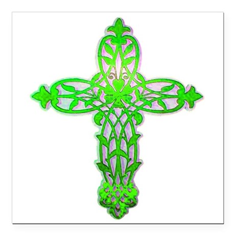 "cross31c2.png Square Car Magnet 3"" x 3"""