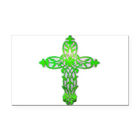 cross31c2.png Rectangle Car Magnet