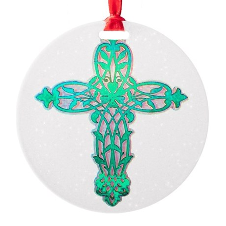 cross31d2.png Round Ornament