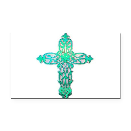 cross31d2.png Rectangle Car Magnet