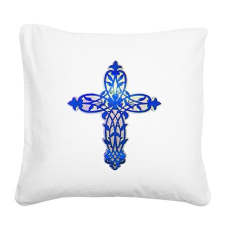 cross31e2.png Square Canvas Pillow