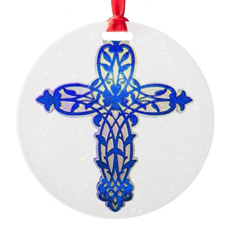 cross31e2.png Round Ornament