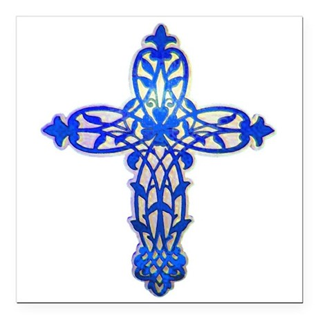 "cross31e2.png Square Car Magnet 3"" x 3"""