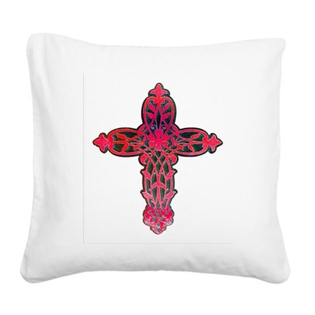 cross31d.png Square Canvas Pillow