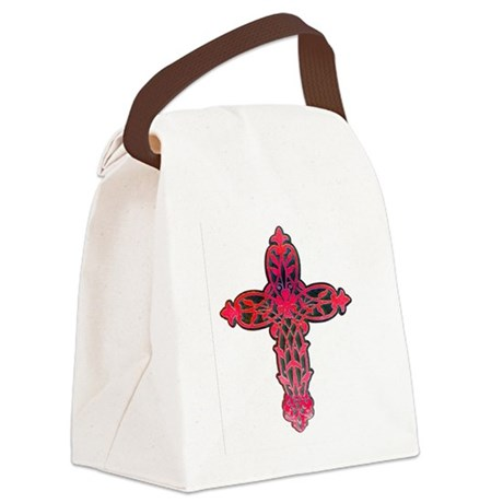 cross31d.png Canvas Lunch Bag