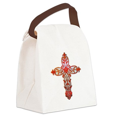 cross31g2.png Canvas Lunch Bag