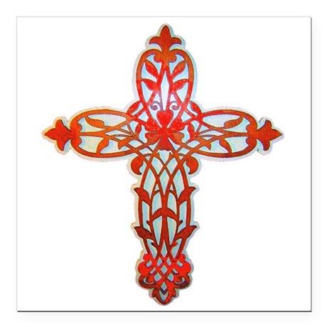 "cross31g2.png Square Car Magnet 3"" x 3"""