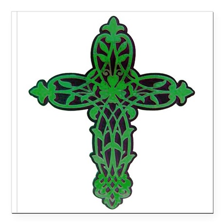 "cross31f.png Square Car Magnet 3"" x 3"""