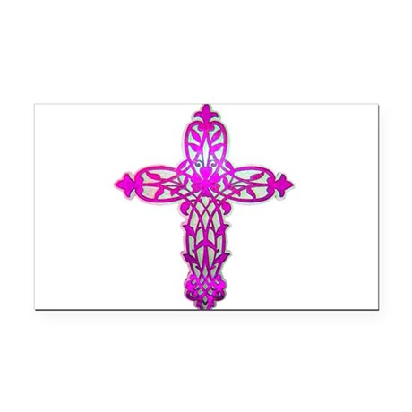 cross32.png Rectangle Car Magnet