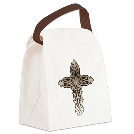 cross31.png Canvas Lunch Bag