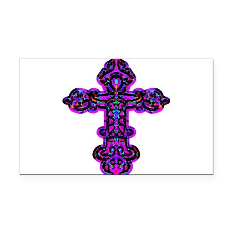 cross26e.png Rectangle Car Magnet