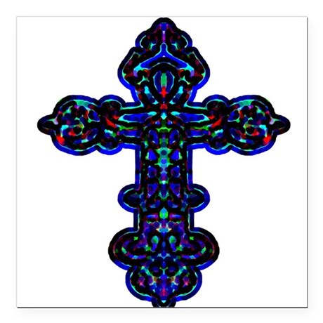"cross26c.png Square Car Magnet 3"" x 3"""