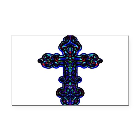 cross26c.png Rectangle Car Magnet