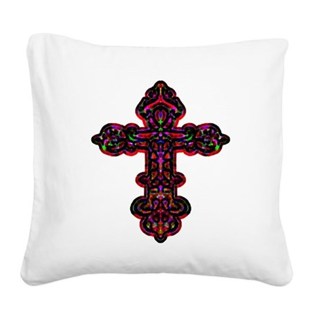 cross26b.png Square Canvas Pillow