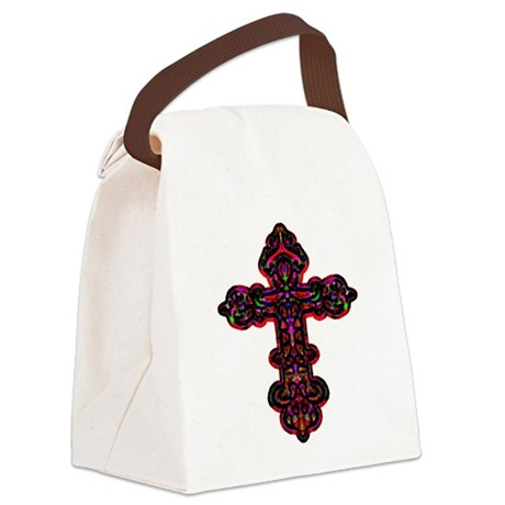 cross26b.png Canvas Lunch Bag