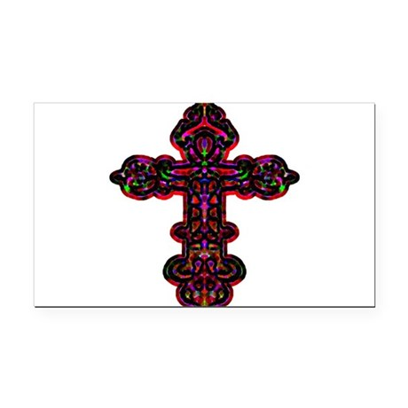 cross26b.png Rectangle Car Magnet