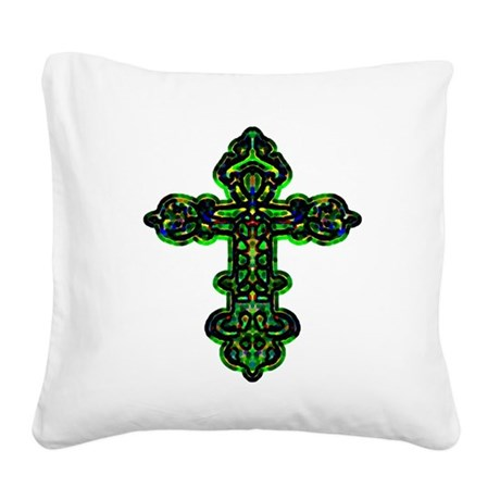 cross26a.png Square Canvas Pillow
