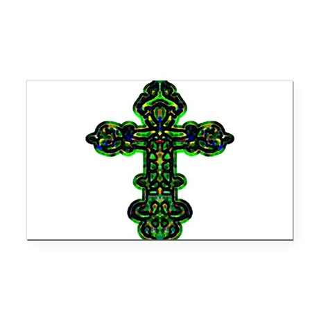 cross26a.png Rectangle Car Magnet