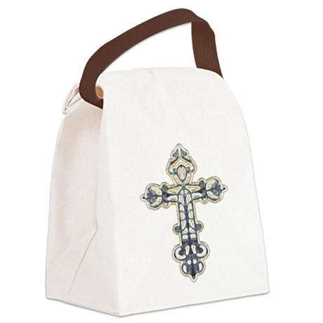 cross262.png Canvas Lunch Bag