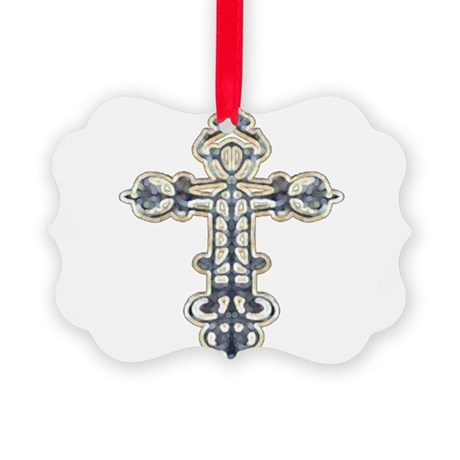 cross262.png Picture Ornament