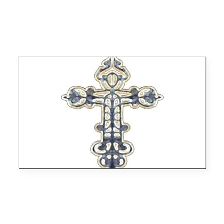 cross262.png Rectangle Car Magnet