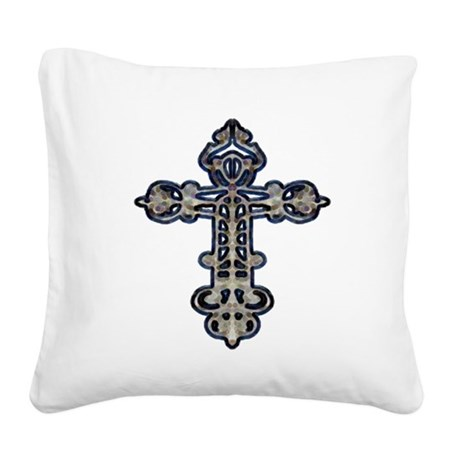 cross26.png Square Canvas Pillow
