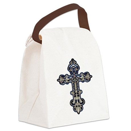 cross26.png Canvas Lunch Bag