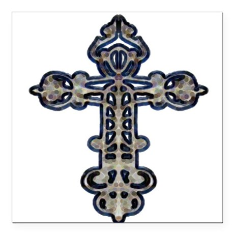 "cross26.png Square Car Magnet 3"" x 3"""