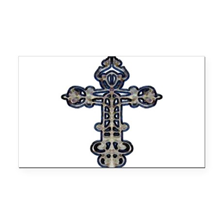 cross26.png Rectangle Car Magnet